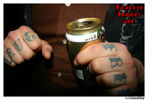 knuckle tattoos healing Insomnia just a specific symbolism behind them wish