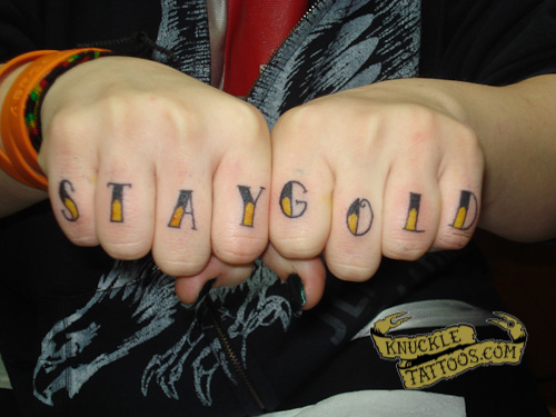Stay Gold Knuckletattoos Com My son's is cinnamon toast crunch and more apropos of the pic related. knuckletattoos com